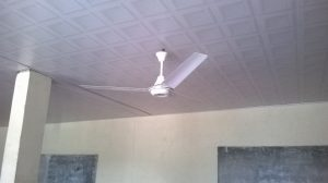 Completed dining hall ceiling & fan