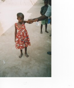 Child with malnutrition on arrival at KJCH
